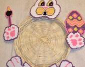 Easter Bunny Plate Holder