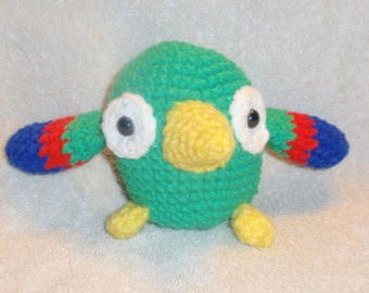 crochet stuffed parrot