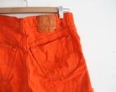bright neon orange levis