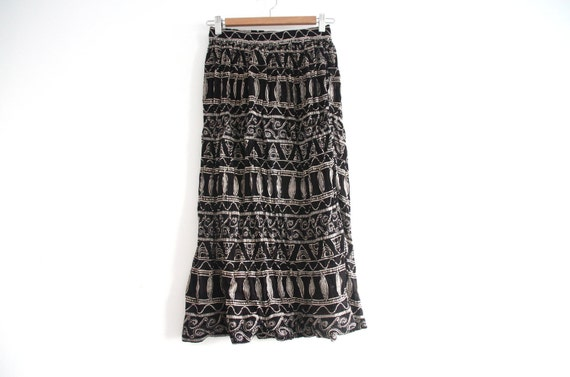 SALE: tribal pattern flowing maxi skirt