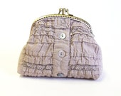 Coin purse in Cappuccino color Two Compartment Coin Purse Wallet