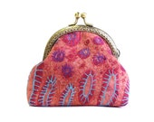 Frame coin purse embroidered quilt coin purse