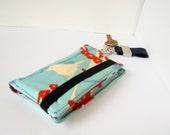 Custom listing for Dawn: cyan & red iphone wallet
