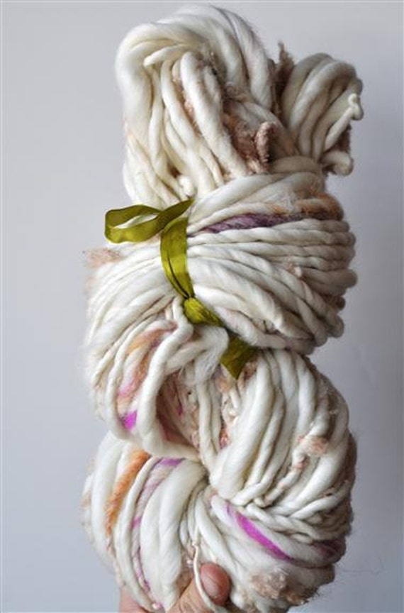 Handspun Yarn Bulky, Thick and Thin, Textured, Soft, Merino Singles, 11 Ounces