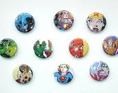 DC Heroes Button Pin Set