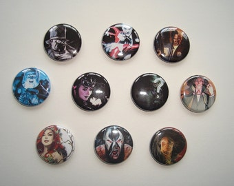 Batman Villains & Rogues Button Pin Set