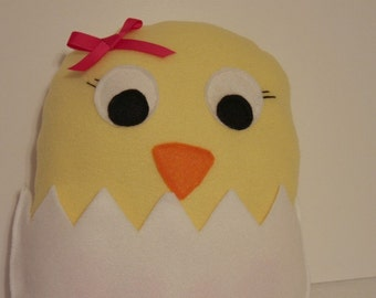 INSTANT DOWNLOAD Chirp the Chick Plushie Pattern Stuffed Animal Toy Perfect for Easter or Spring