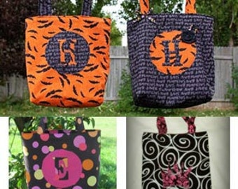 INSTANT DOWNLOAD Easter bag, Library Tote or Halloween Trick or Treat Bag PDF Sewing Pattern By Hadley Grace Designs