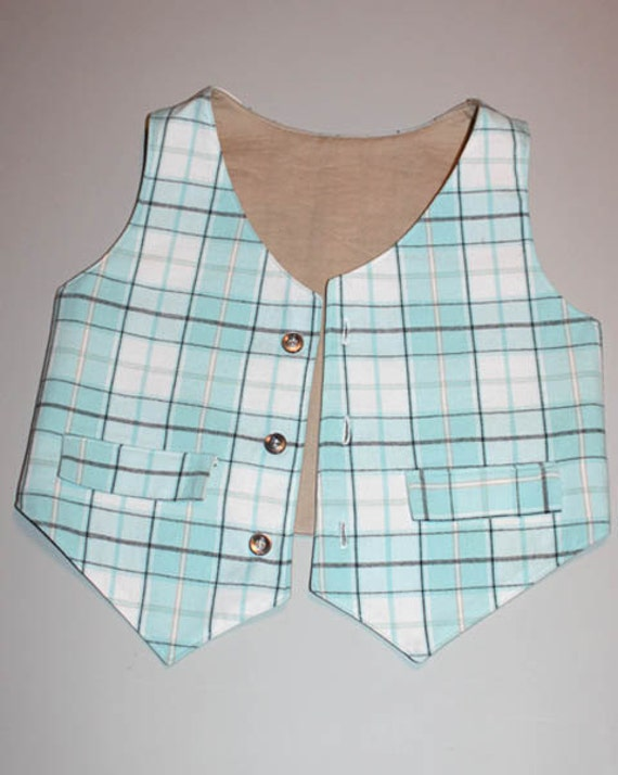 INSTANT DOWNLOAD Guys and Gal's Reversible Vest PDF Sewing Pattern By Hadley Grace Designs - Includes Sizes 6 months to 5T