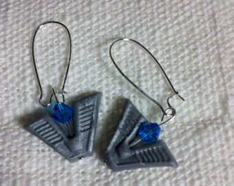 Stargate Chevron Earrings: Ancient City of Atlantis Pegasus Galaxy Gate