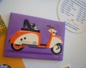 Boogie on TULA SCOOTER magnet (2.5 x 3.5 inches)