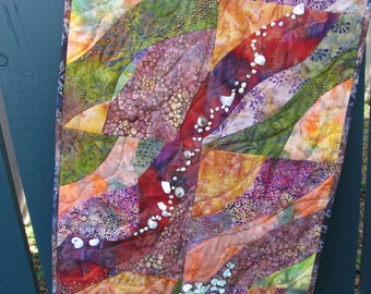Earth Colors Wallhanging- Journey to the Center of the Earth No 1
