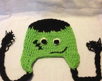Halloween hat - crocheted halloween hat - crochet hat - fall hat - autumn hat - crochet halloween hat - halloween fashion - free shipping