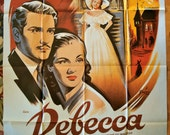 REBECCA Vintage French Movie Poster Reissue HITCHCOCK