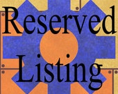 Reserved Listing for Jacqueli2010