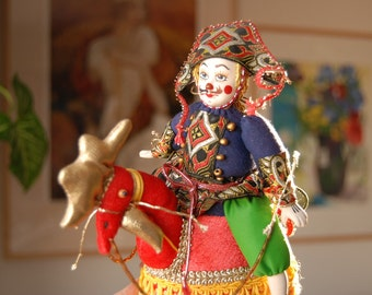 Doll Figurine with Rooster