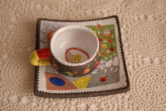 Whimsical Ceramic Cup