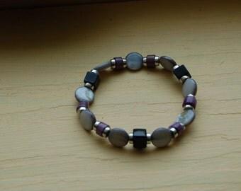 Purple Sea Bracelet - Small - Casual - Amethyst February Birthday