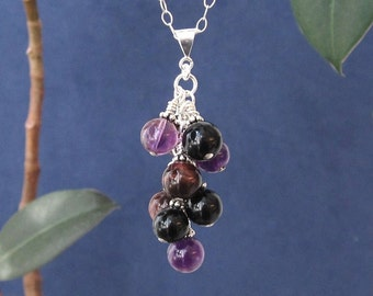 Unique Gift for Her Girlfriend Wife Mother in Law Daughter Sister, Chakra Healing Stones Sterling Necklace Anniversary Wedding Bridal Shower