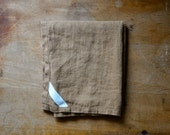 Linen Dish Towel in Brown