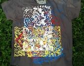 "Men's Organic Cotton Screen Printed ""Scribble"" T-Shirt"