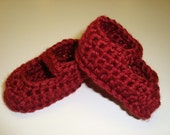 Perfect For Beginners!  Baby Mary Jane Booties PDF Crochet Pattern - ePattern, Tutorial, DIY - Crocheted Infant Shoes - 0 - 12 Months
