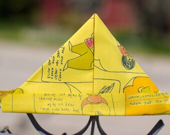CLEARANCE Yellow Vintage Comic Strip Fabric Newspaper Sailor/Pirate Hat --Newborn Baby Boy Photography Prop