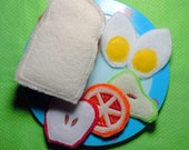 In The Hoop Sandwich and Fruit Slices Felt food Machine Embroidery Design