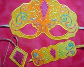 In The Hoop Princess mask Set 1 Machine Embroidery Design