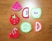 In The Hoop Felt Fruit Pieces Embroidery machine applique design