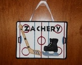 In The Hoop Hockey Door Sign Design for Embroidery Machines