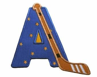 Hockey Alphabet Applique Machine Embroidery Design