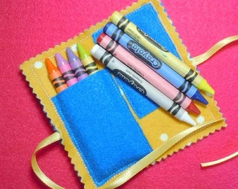 Small Folded Crayon Holder Embroidery Machine Applique