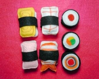 Fun Felt play food Sushi embroidery machine designs