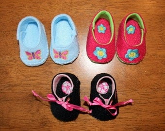 In The Hoop Felt Doll Shoe Design Set for Embroidery Machines