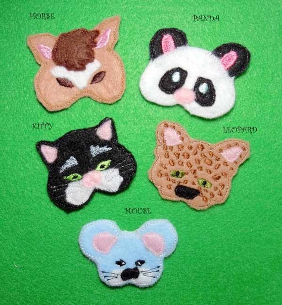 Items Similar To In The Hoop Hair Clip Animals Machine