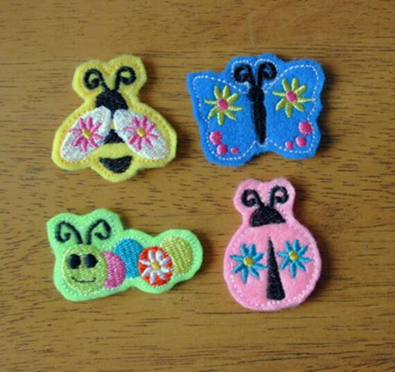 Felt Bits & Pieces Bug Set Applique/Embroidery machine designs