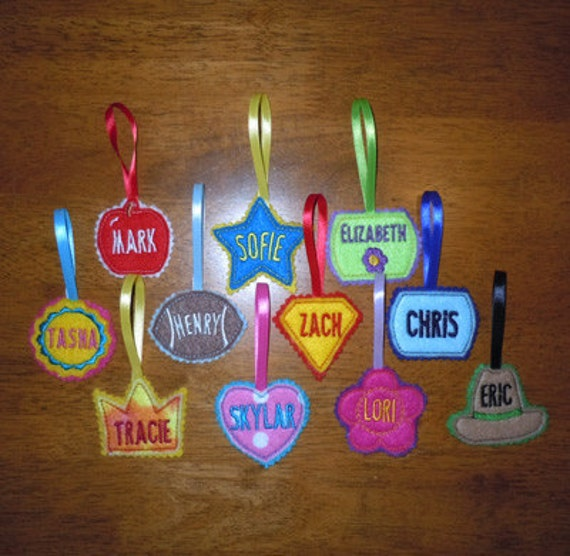 Items Similar To In The Hoop Lunchbox Name Tag Applique