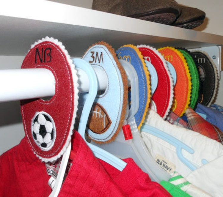 In The Hoop Baby Closet Organizer Tab Designs By