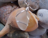Sea Smoothed, Frosted White Sea Glass Sterling Silver Necklace