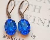 Estate Style Vintage Sapphire Earrings