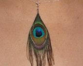 Peacock Feather Pendant
