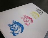 Letterpress Greeting Card - CMYKitties