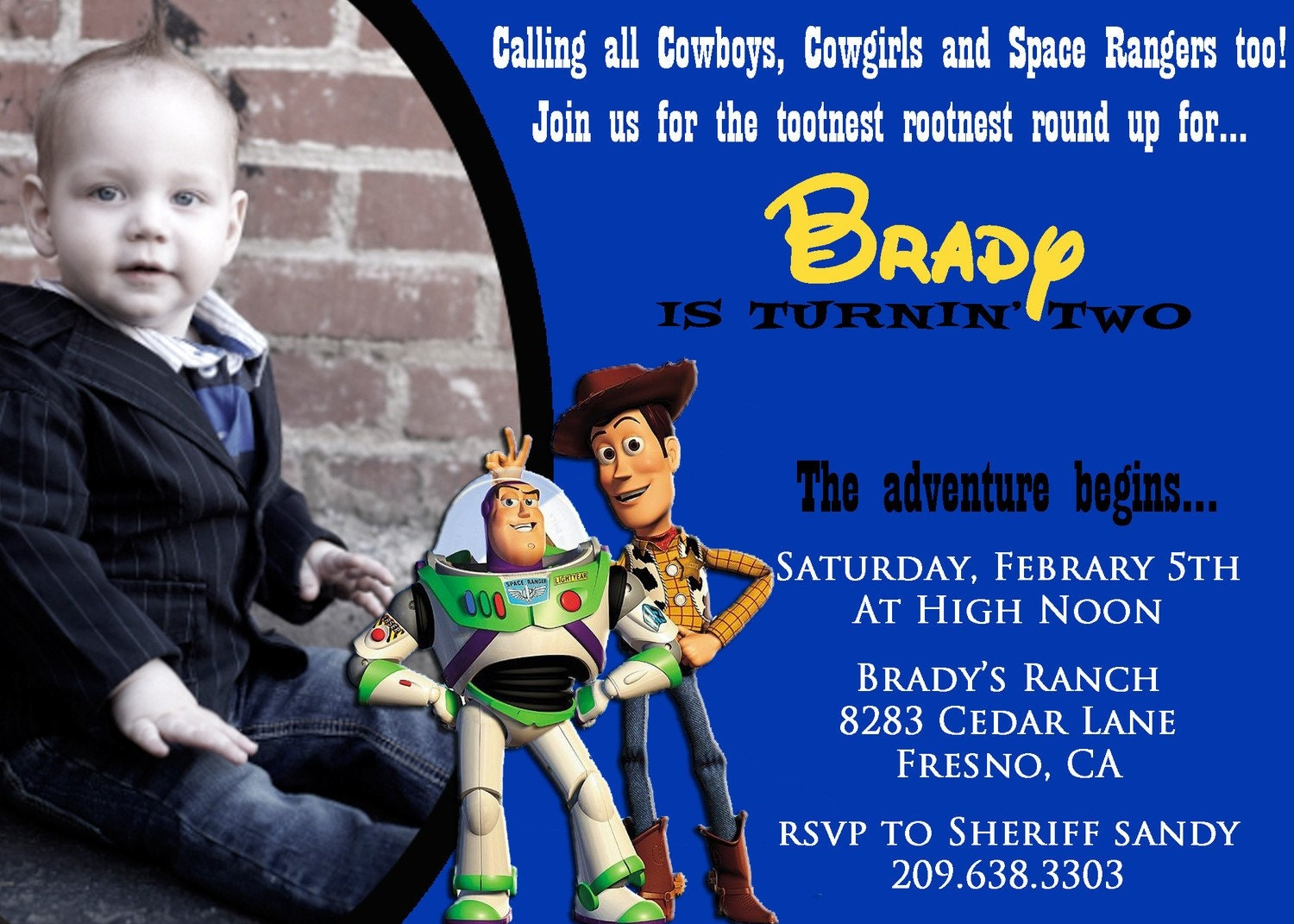 Toy Story Birthday Invitation Wording is beautiful invitation example