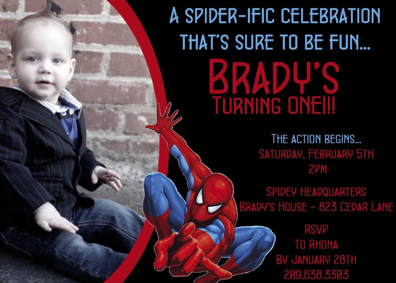 Spiderman Photo Invitation by DarlingDesignsbySara on Etsy
