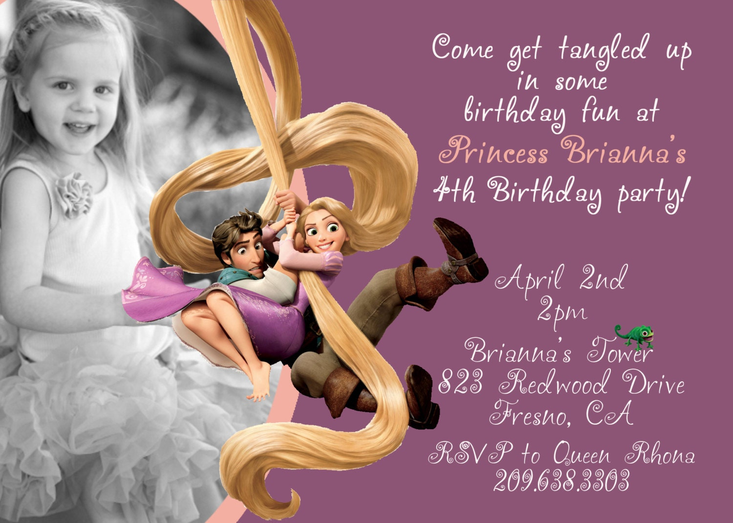 Tangled Birthday Invitations is an amazing ideas you had to choose for invitation design