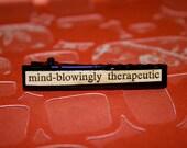 vintage novel snippet on hair clip OOAK