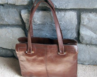 Vintage Leather Purse In Rich Brown Made in Hong Kong