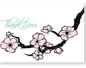 Cherry Blossom Thank You No back ground