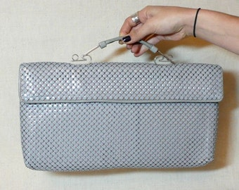 Whiting and Davis silver grey purse